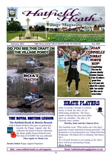 February2013 Edition - Hatfield Heath Village Magazine