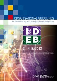 2. - 4. 5. 2012 OrganisatiOnal guidelines