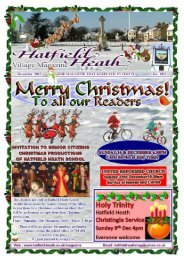 December2012 Edition - Hatfield Heath Village Magazine