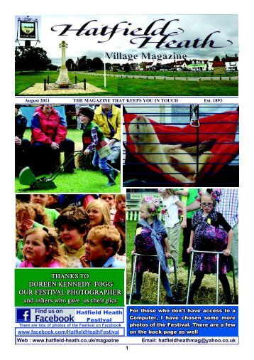 August2011 Edition - Hatfield Heath Village Magazine