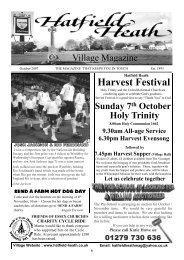 October2007 Edition - Hatfield Heath Village Magazine