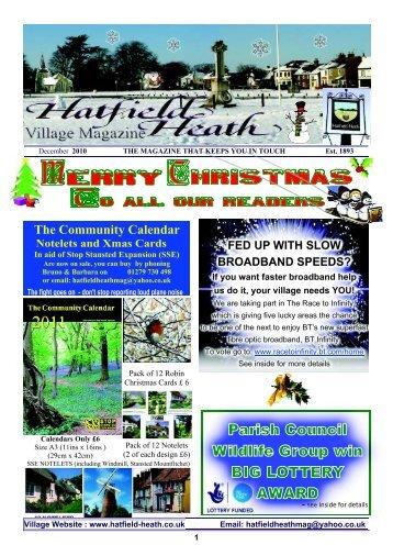December2010 Edition - Hatfield Heath Village Magazine