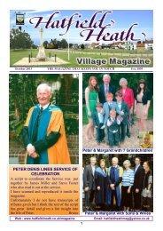 October2013 Edition - Hatfield Heath Village Magazine