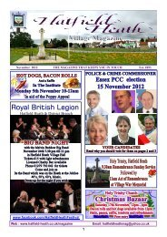 November2012 Edition - Hatfield Heath Village Magazine
