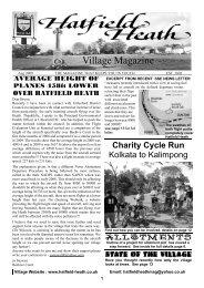 August2009 Edition - Hatfield Heath Village Magazine