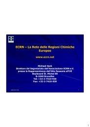 ECRN – La Rete delle Regioni Chimiche Europee