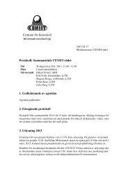 Centrum för Industriell Informationsteknologi Protokoll ... - CENIIT