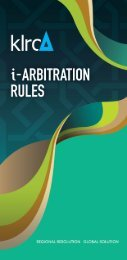 KLRCA i-Arbitration Rules - Global Arbitration Review