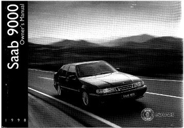 Owners Manual 9000 M.. - Saab Klub Danmark
