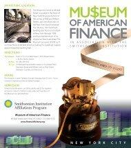 General Brochure - Museum of American Finance