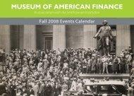 Sept-Oct 2008 Events Calendar - Museum of American Finance