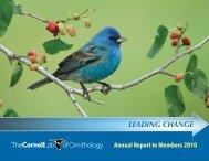 LEADING CHANGE - Cornell Lab of Ornithology - Cornell University