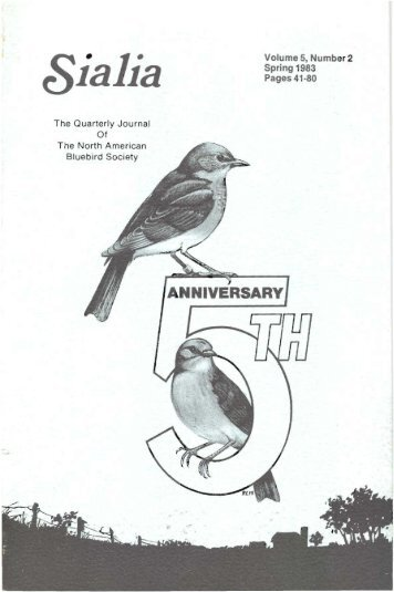 Vol. 5, No. 2; Spring 1983 - North American Bluebird Society