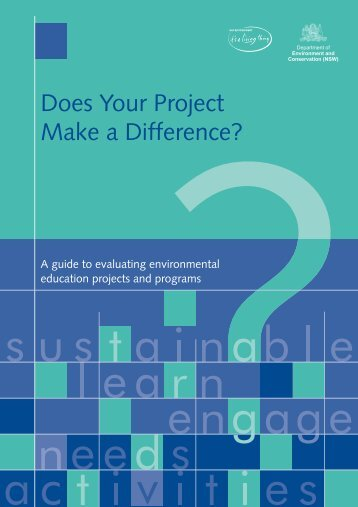 Does Your Project Make a Difference - Department of Environment ...