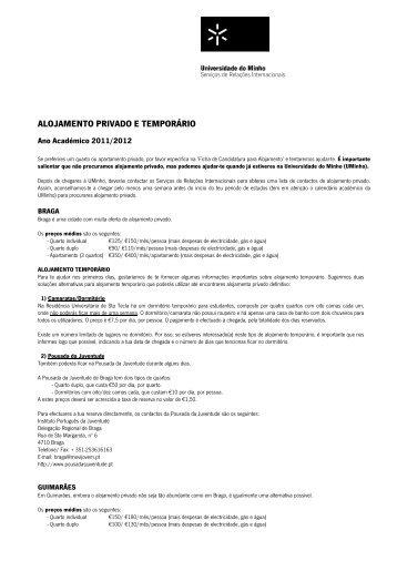Informação sobre Alojamento Privado e Temporário - FAE
