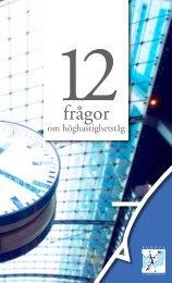 12 fragor om höghastighetståg - Europakorridoren