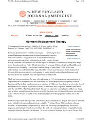 Hormone Replacement Therapy - Osteos