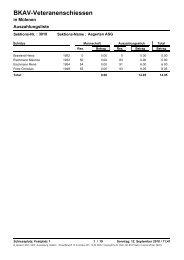 Auszahlungslisten - BKAV