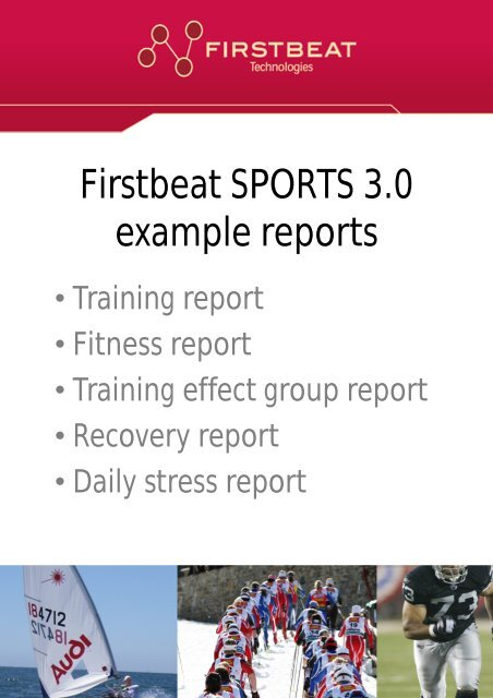 Firstbeat SPORTS 3 0 example reports