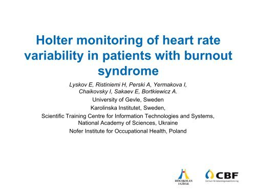 Holter monitoring of heart rate variability in patients with
