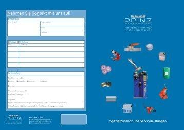 Nehmen Sie Kontakt mit uns auf! - PRINZ GmbH & Co KG