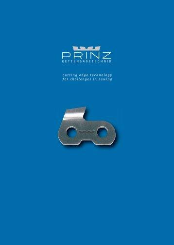 PRINZ chainsaw technology - PRINZ GmbH & Co KG