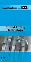 Strand Lifting Technology - PAUL Maschinenfabrik GmbH & Co. KG