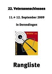 Rangliste BKAV-Veteranenschiessen 2009