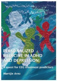 personalized medicine in adhd and depression a ... - Brainclinics