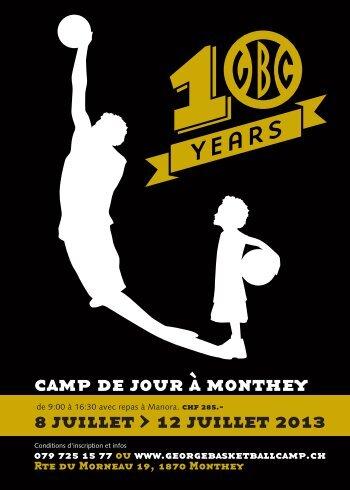 8 juillet > 12 juillet 2013 camp de jour à monthey - BBC Monthey