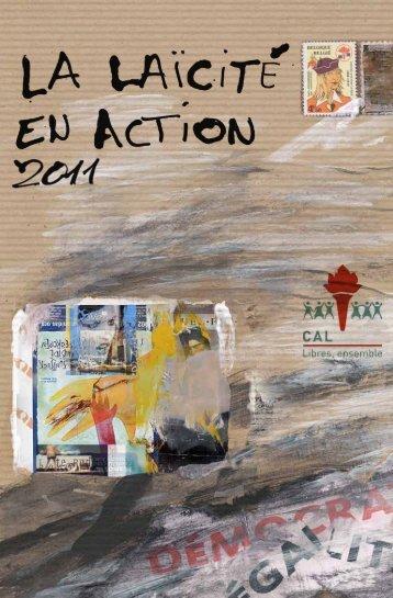 CAL I rapport d'activités 2011 Page 3 - Centre d'Action Laïque