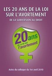 les 20 ans de la loi sur l'avortement - Centre d'Action Laïque