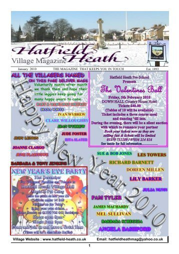 January2010 Edition - Hatfield Heath Village Magazine