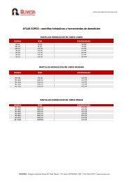 ATLAS COPCO : martillos hidráulicos y herramientas de ... - RUVICSA