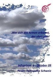 Infoprison Oktober 2009 - Prison Fellowship Schweiz