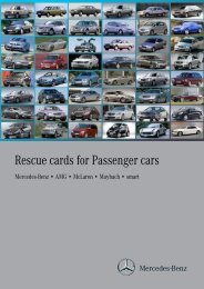 Rescue cards for Passenger cars