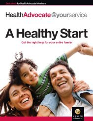 Health Advocate - A Healthy Start