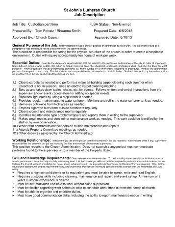 Job Description Preschoolpre Kindergarten Teacher The Lutheran