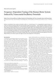 Frequency-Dependent Tuning of the Human Motor System Induced ...