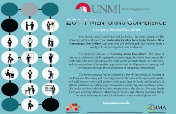Mentoring Institute - University of New Mexico