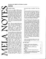 View or Download MELA Notes 60 (Spring 1994) - Middle East ...