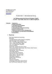 Protokoll der 1. Generalversammlung - WgoE