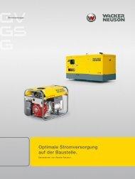 Optimale Stromversorgung auf der Baustelle. - Wacker Neuson