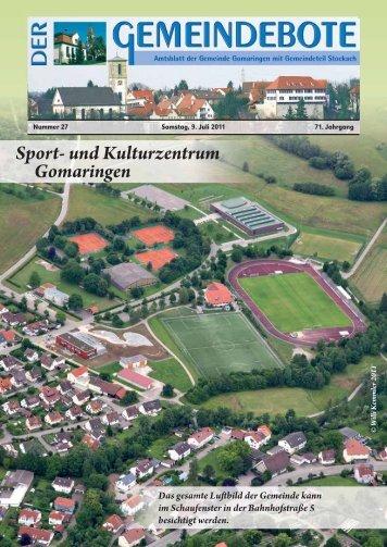 Ausgabe :Gomaringen 09.07.11.pdf - Gomaringer Verlag