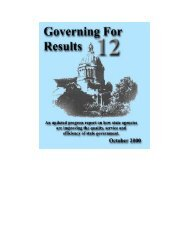 Governing for Results 12 - Washington State Digital Archives