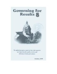 Governing for Results 8 - Washington State Digital Archives
