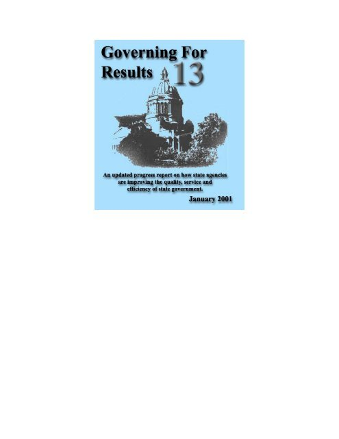 Governing for Results 13 - Washington State Digital Archives