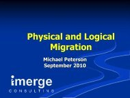 Michael Peterson - Physical and Logical Migration