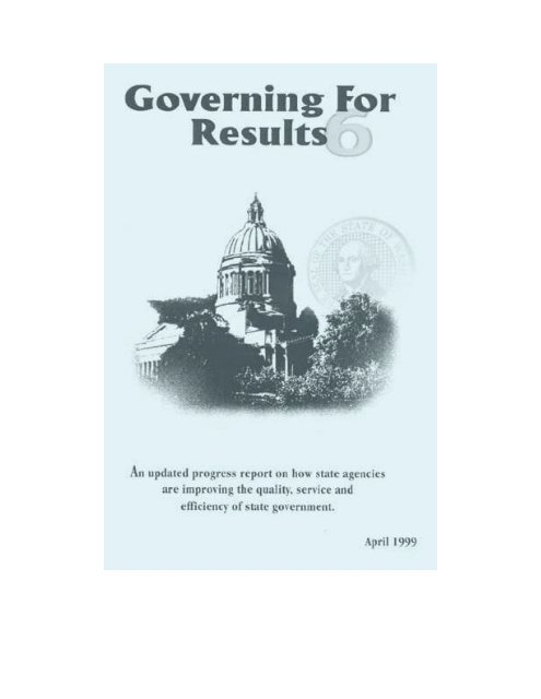 Governing for Results 6 - Washington State Digital Archives