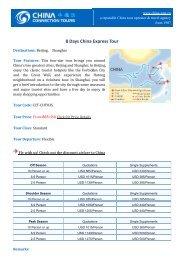 8 Days China Express Tour - China Tour